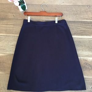 Exclusively Misook navy blue career skirt S